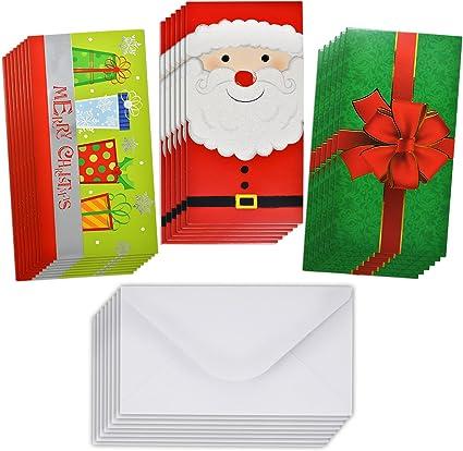 Amazon.com: Regalo Boutique Navidad Tarjetas de felicitación ...