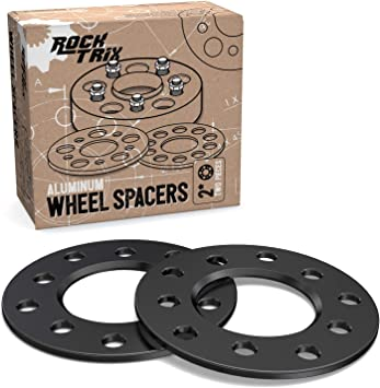 Compatible with 5-Lug Dodge Ford Buick GMC Jeep Chevrolet Chrysler Lincoln 0.25 inch 5x5 and 5x5.5 Flat Wheel Spacers RockTrix