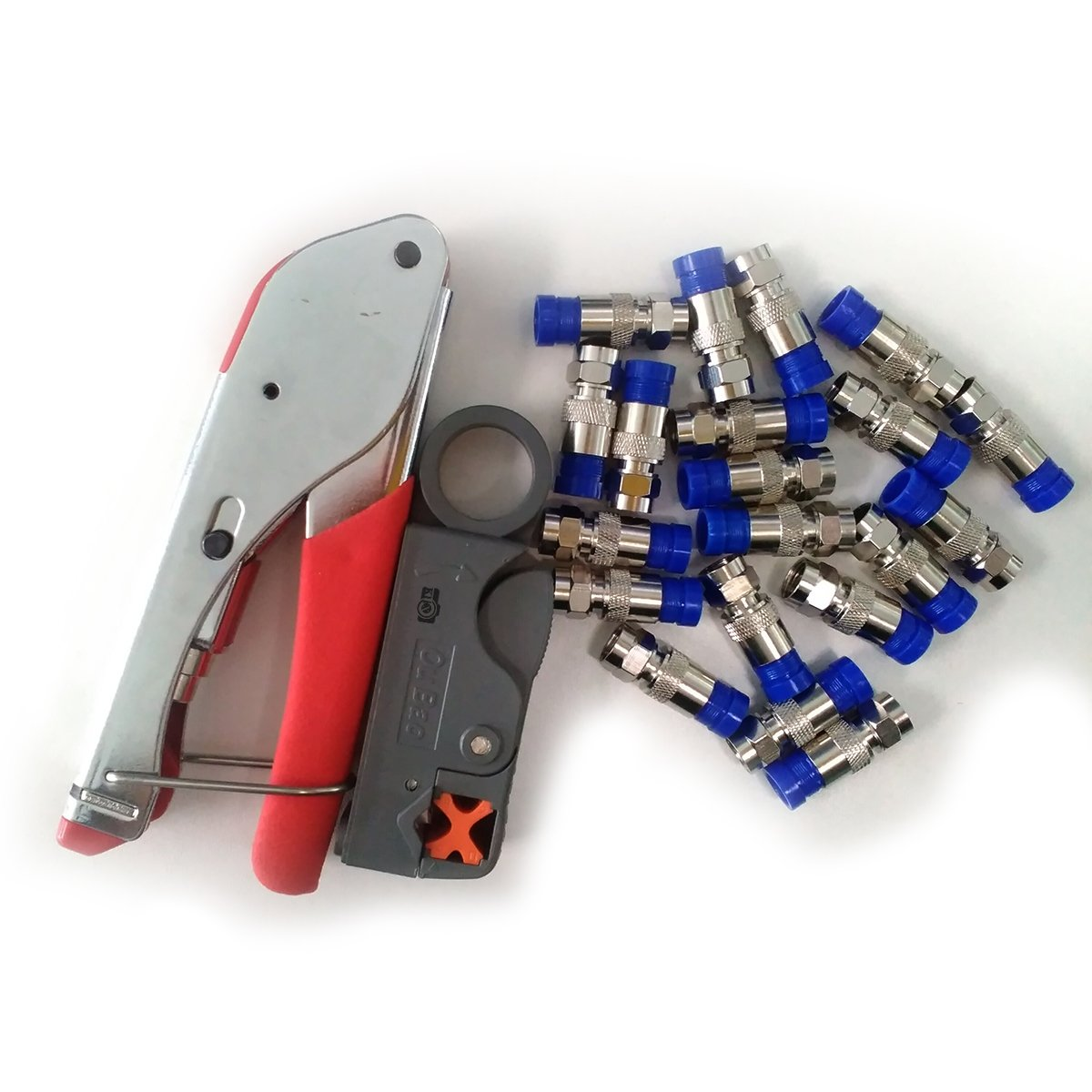 Klix Compression for Connector Tool Cable Stripper RG6 Fitting -Red by Klix (Image #4)