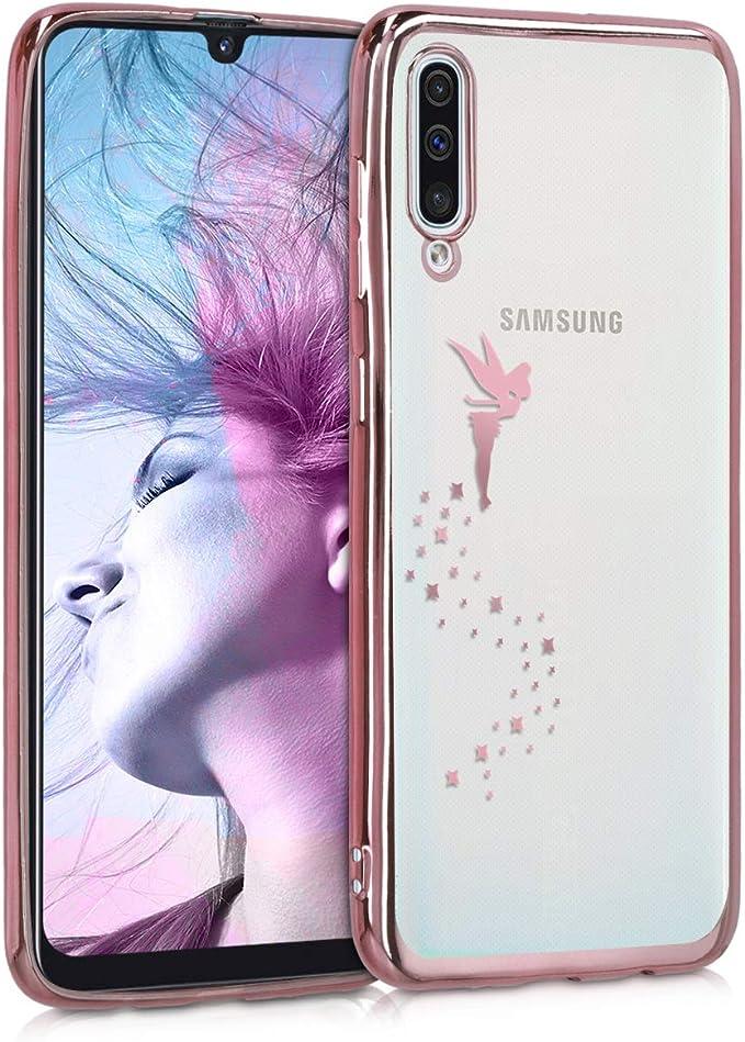 Protector Trasero en melocot/ón kwmobile Funda Compatible con Samsung Galaxy A30s Carcasa de TPU Silicona