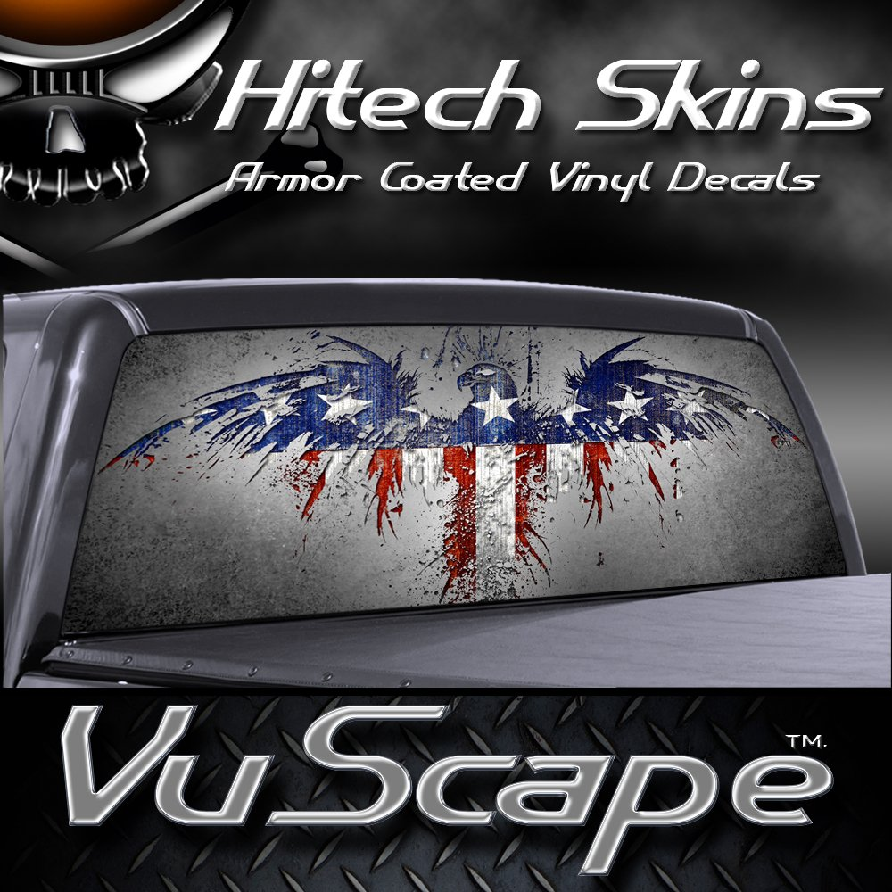 Amazoncom VuScapes AMERICAN PATRIOTIC Rear Window Truck - Rear window decals for trucks