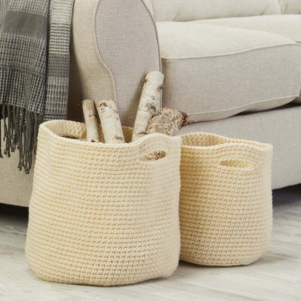 Herrschners® Stow Away Baskets Crochet Yarn Kit