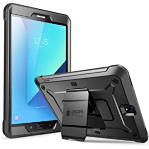 Galaxy Tab S3 9.7 Case, SUPCASE [Heavy Duty] [Unicorn Beetle PRO Series] Full-body Rugged Protective Case with Built-in Screen Protector for Samsung Galaxy Tab S3 9.7 inch(SM-T820/T825)2017 (BK/BK)