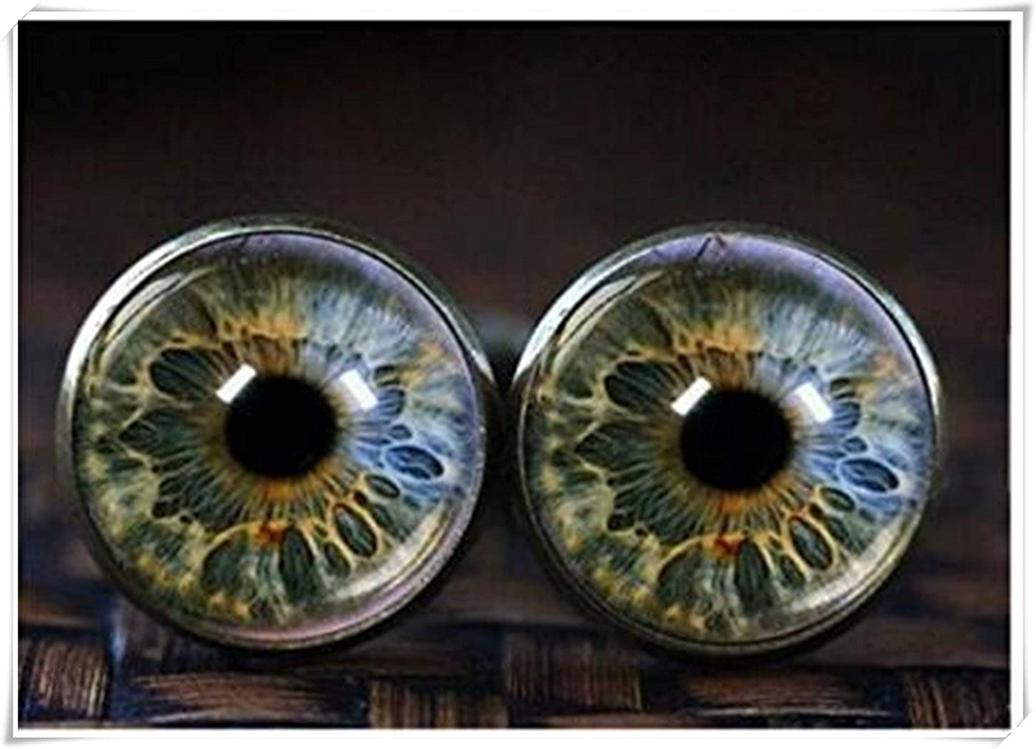 Eye cufflinks, Eye Jewelry Glass cufflinks, Realistic Human Eyeball CX28
