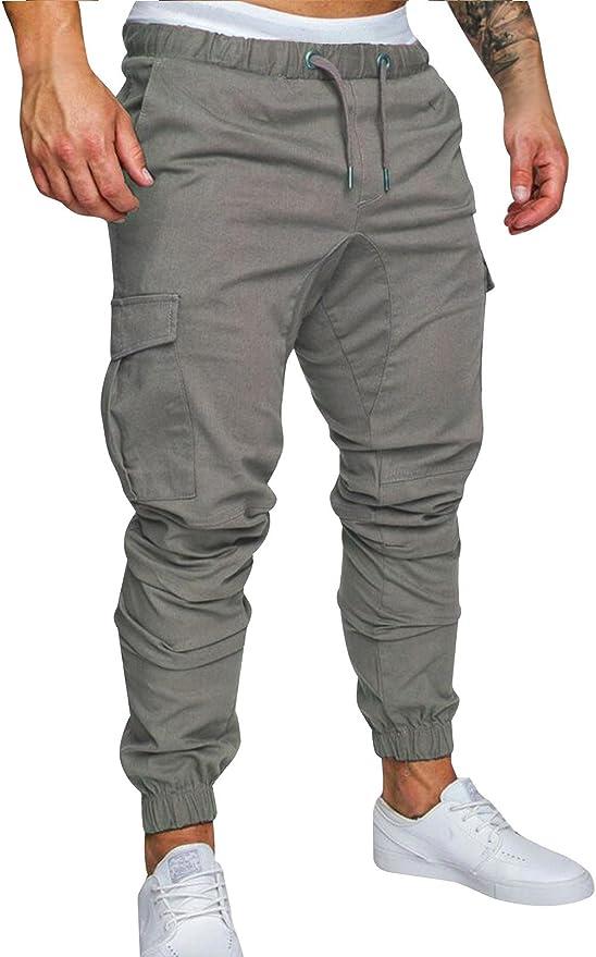 74 opinioni per Cindeyar Pantaloni Uomo Lunghi Cargo con Coulisse Tasche Laterali Trousers della