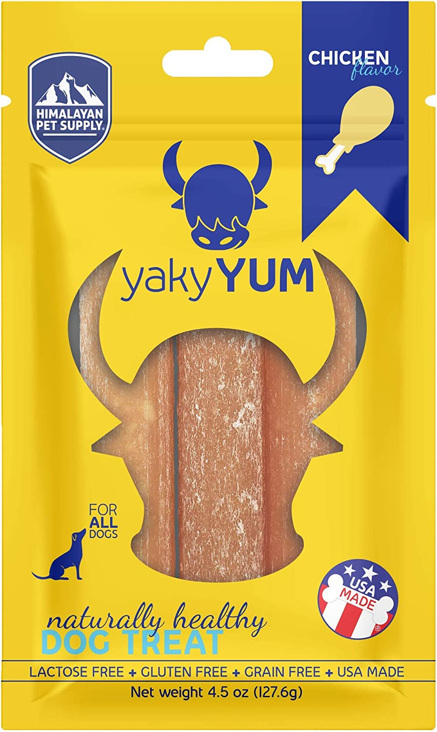 HDC Yaky Snacks yakyYum Himalayan Cheese Treats | Lactose Free | Gluten Free | Grain Free | Made in USA | For All Breeds | Chicken Flavor