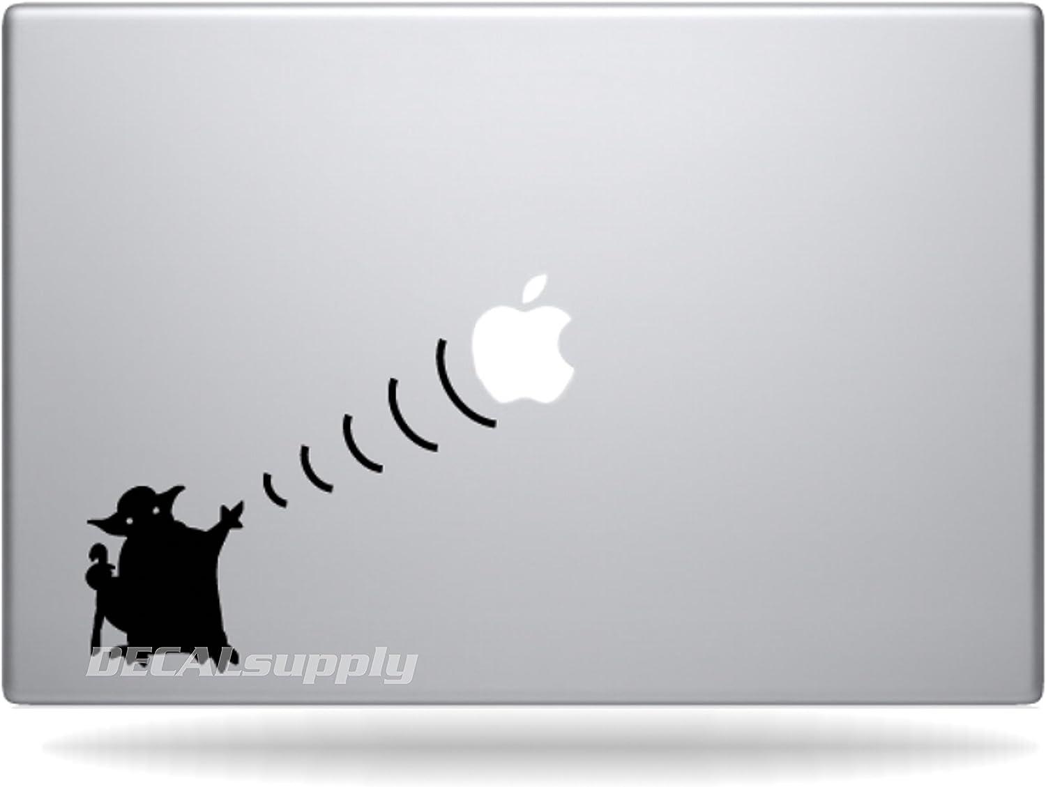 Yoda Star Wars for Macbook Air 11, 13, Macbook Pro 13,15,17 Decals, Stickers.