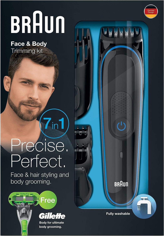 Braun MGK3040 - Set de afeitado multifunción 7 en 1, depiladora masculina, recortadora de barba, cortapelos profesional hombre, negro: Braun: Amazon.es: Salud y ...
