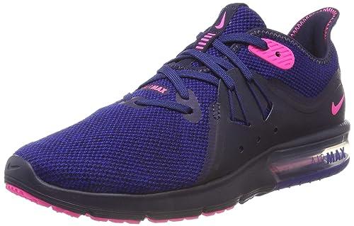 san francisco 3d4c7 76110 Nike Air Max Sequent 3, Scarpe da Ginnastica Basse Donna, Multicolore  (Obsidian