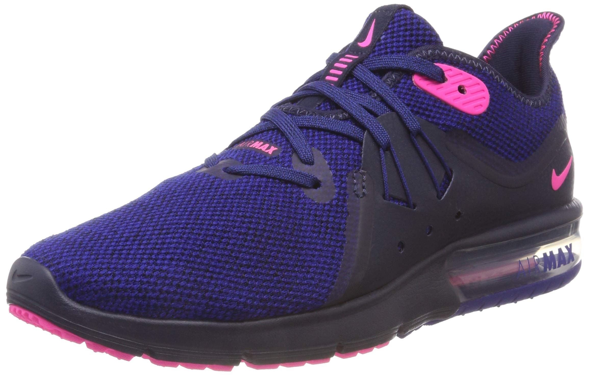 3a705573a5 Galleon - Nike Air Max Sequent 3 (11-M, Obsidian/Pink Blast/Deep Royal Blue)
