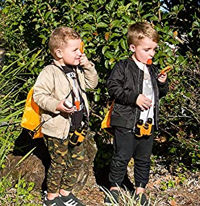 Exploration Kit for Kids – Outdoor Gear Gift Set for STEM Learning & Nature Exploring for Children – Compass, Binoculars,Magnifying Glass, Flashlight Backpack Pack for Toddler Boys & Girls