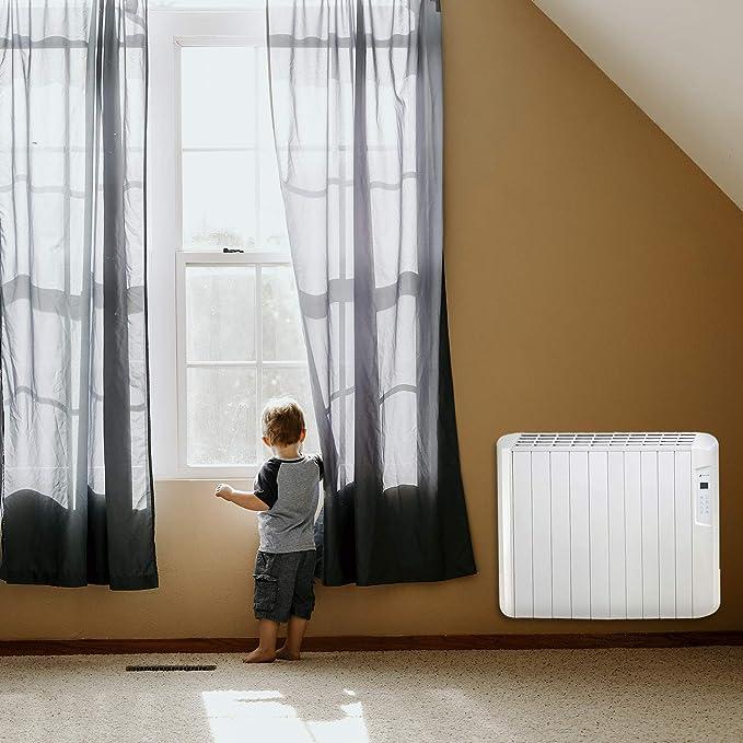 Haverland ES10D - Emisor Térmico Digital Seco, 1250 W, Color Blanco: Amazon.es: Hogar