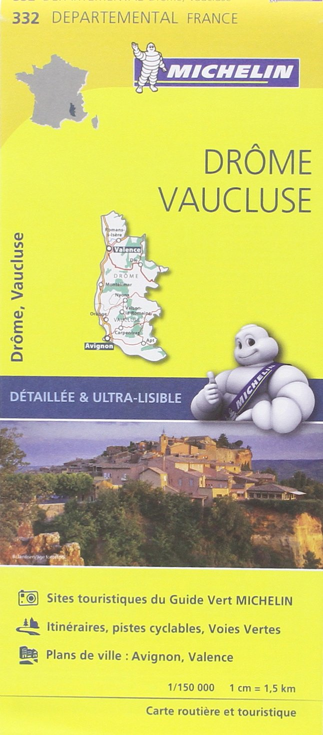 DROME/VAUCLUSE 11332 CARTE ' LOCAL ' (France) MICHELIN KAART