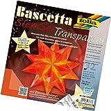 Folia Bascetta Stern Bastelset Transparentpapier 15x15cm, orange