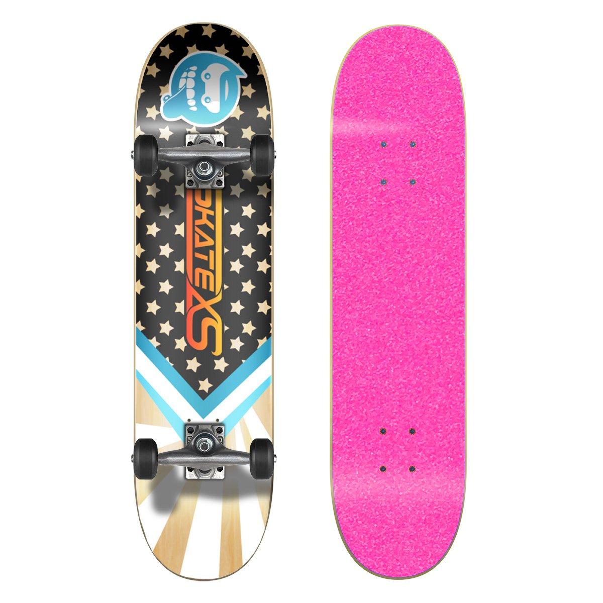 ★お求めやすく価格改定★ SkateXS 初心者 スターボード ストリート スケートボード Black B01N6CXZJH Wheels 7.0 7.0 x 28 (Ages 5-7)|Pink Grip Tape/ Black Wheels Pink Grip Tape/ Black Wheels 7.0 x 28 (Ages 5-7), ニシゴウムラ:86c514c5 --- a0267596.xsph.ru