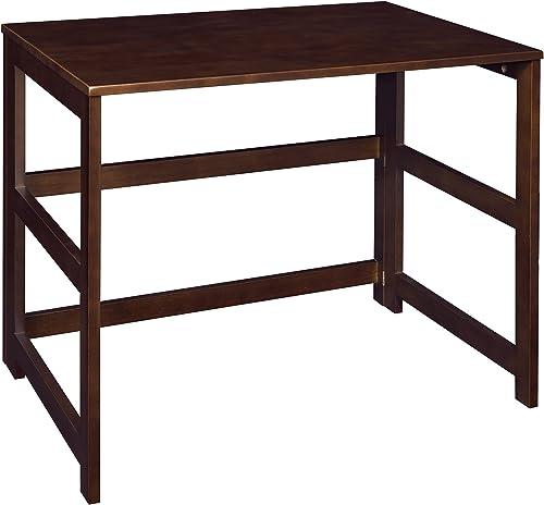 Regency Flip Flop 31-inch Folding Desk- Mocha Walnut