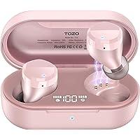 TOZO T12 bezprzewodowe słuchawki Bluetooth ze sterowaniem dotykowym i bezprzewodową walizką do ładowania, cyfrowy…