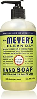 product image for Mrs. Meyer's Clean Day Liquid Hand Soap, Cruelty Free and Biodegradable Formula, Lemon Verbena Scent, 12.5 oz