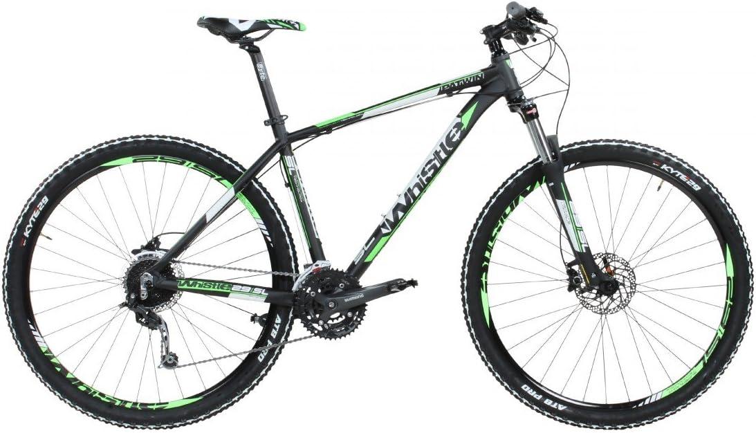 Whistle Patwin 150127S Bicicleta de montaña, 29 Pulgadas, Color Negro y Verde