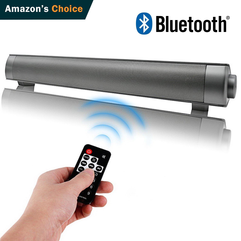 Soundbar HONEST KIN Sound Bar Bluetooth Wireless and Wired, TV Soundbars Speaker for TV, PC, Cellphone (2018 Updated Version)