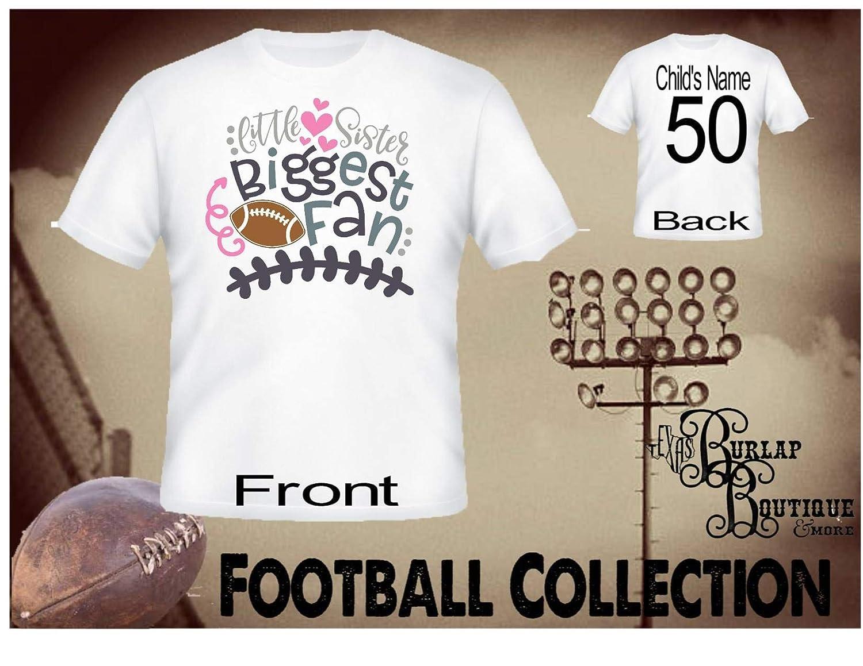 Amazon Handmade Personalized Football Shirt Little Sister