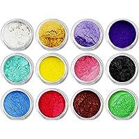 12 piezas de colores Mezclados, Pigmentos Colorantes, polvo