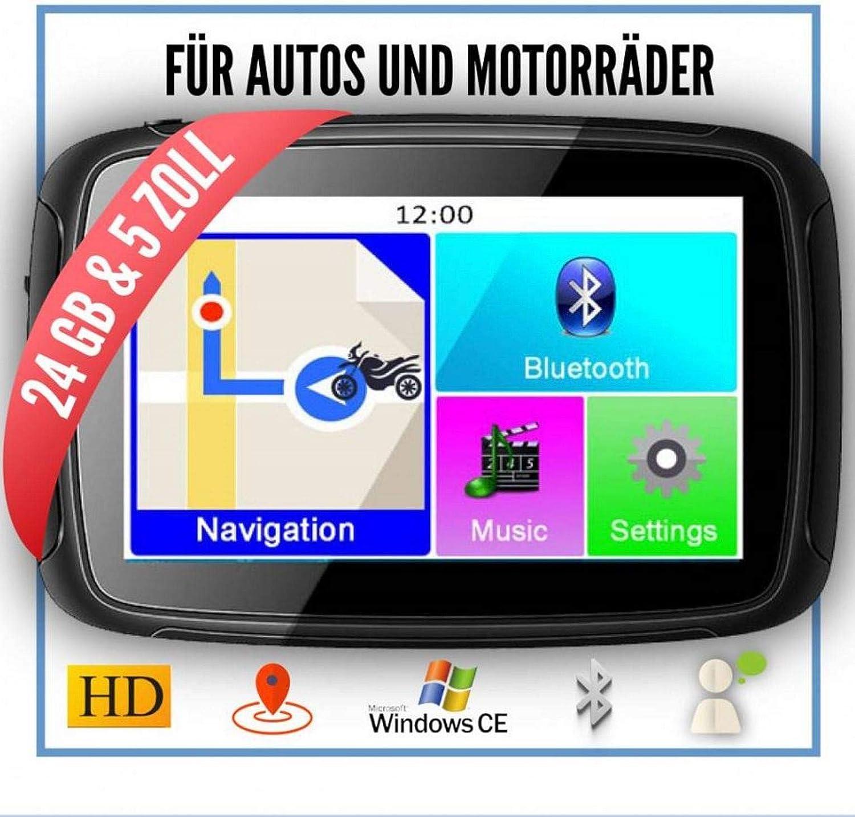 Motorrad- Kfz- /& Outdoor-Navi mit West-Europa Motorrad Navis NavGear Navigationsger/äte: TourMate N4
