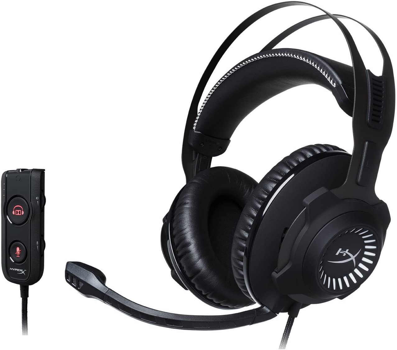 HyperX Cloud Revolver S Gaming Headset with Dolby 7.1 Surround Sound – Steel Frame – Signature Memory Foam, Premium Leatherette, for PC, PS4, PS4 PRO, Xbox One, Xbox One S HX-HSCRS-GM NA Renewed