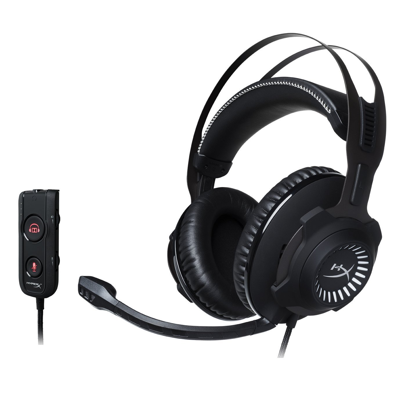 HyperX Cloud Revolver S Gaming Headset with Dolby 7.1 Surround Sound - Steel Frame - Signature Memory Foam, Premium Leatherette, for PC, PS4, PS4 PRO, Xbox One, Xbox One S (HX-HSCRS-GM/NA) (Renewed) by HyperX