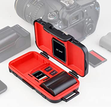 Professional Memory Card Case Holder SDHC SDXC CF TF Micro SD Compact Flash Storage Protector Water-Resistant Camera Media Storage Organizer Photography Accessories