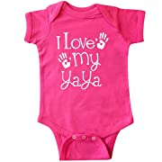 inktastic - I Love My Yaya Grandchild Infant Creeper 6 Months Hot Pink 2d460