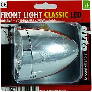 LED Bicicleta Luz delantera Retro bicicleta luz faros delanteros ...