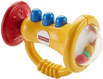 d71e5c740c35 Fisher-Price Sonajero Trompeta, Juguete para bebé +3 Meses (DRF17):  Amazon.es: Juguetes y juegos