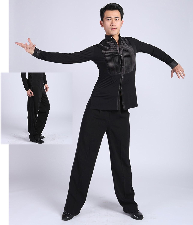 SCGGINTTANZ G5006 latin modern ballroom dance professional vertical style trousers pants for men