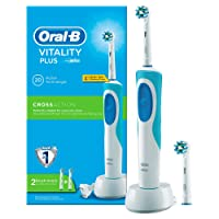 Oral-B Vitality CrossAction - Cepillo de dientes eléctrico recargable y 2 recambios