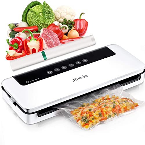 Upgraded Food Vacuum Sealer Machine,Joerid Food Savers Automatic/Manual Vacuum Air Sealing System with Dry&Moist Modes Led Indicator Lights& Started