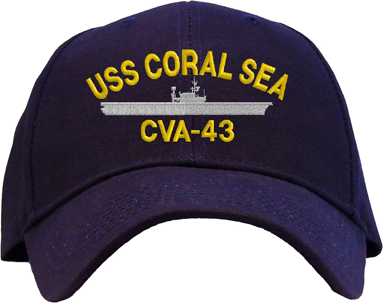 Made In USA Armed Forces Depot USS Oriskany CV-34 Baseball Cap Navy Blue