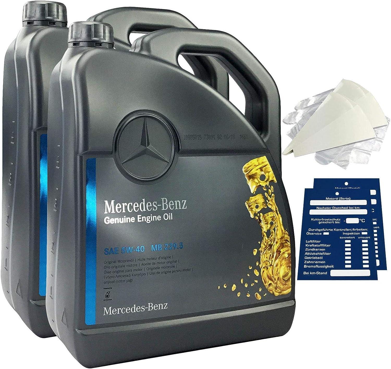 Mercedes Benz Original Motorenöl Set 5w 40 Mb 229 5 10 Liter Auto
