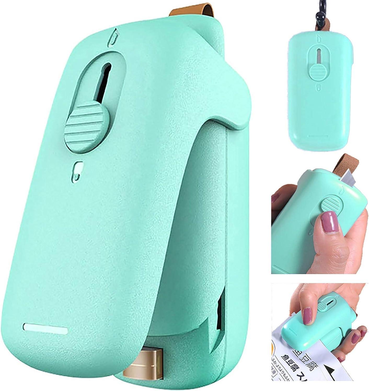 Mini Bag Sealer,Vacuum Bag Sealer Machine, 2 in 1 Food Heat Sealer and Paper Cutter,Handheld Heat Portable Bag Sealer Kitchen Food(Ithout Battery)