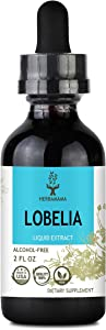 Lobelia Liquid Extract 2 fl oz | All-Natural Dietary Supplement | Respiratory Health | Mood Booster | Supports Muscle and Joint Health | Non-GMO