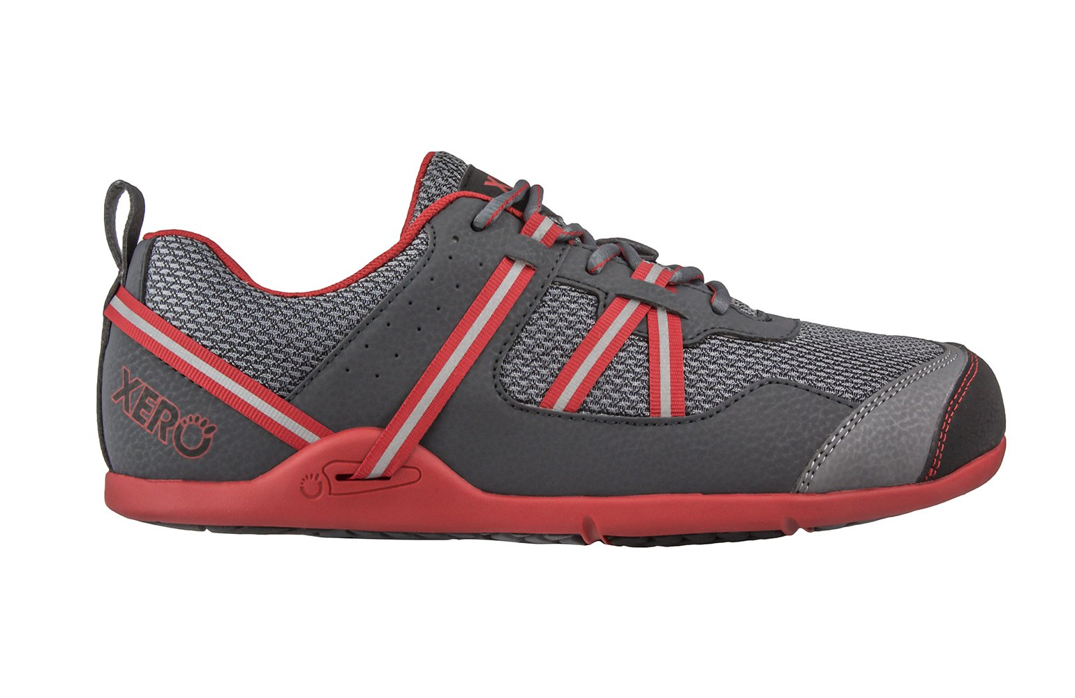 Xero Shoes Prio - Men's Minimalist Barefoot Trail and Road Running Shoe - Fitness, Athletic Zero Drop Sneaker - Charcoal Red by Xero Shoes (Image #2)