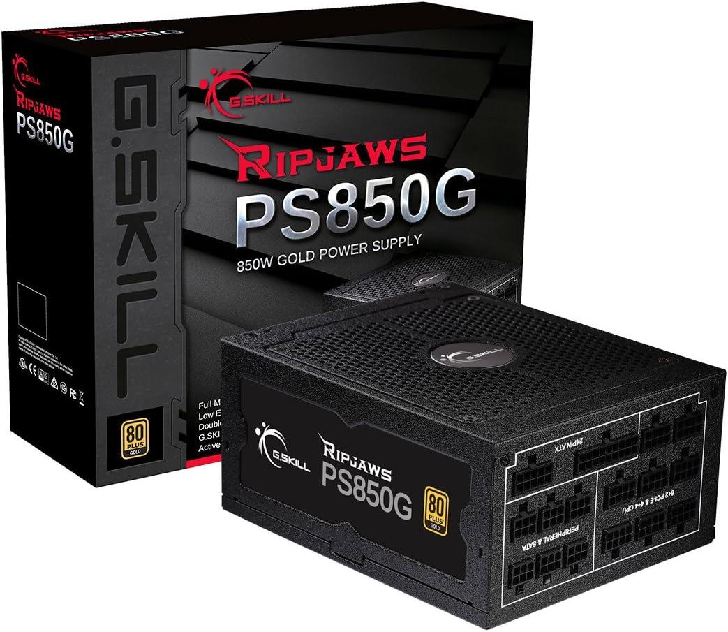G.Skill GP-GD750A-CWV1 Ripjaws PS750G 750W 80 Gold Full Modular Intel//AMD Ready Gaming PC ATX 12V Power Supply,Black