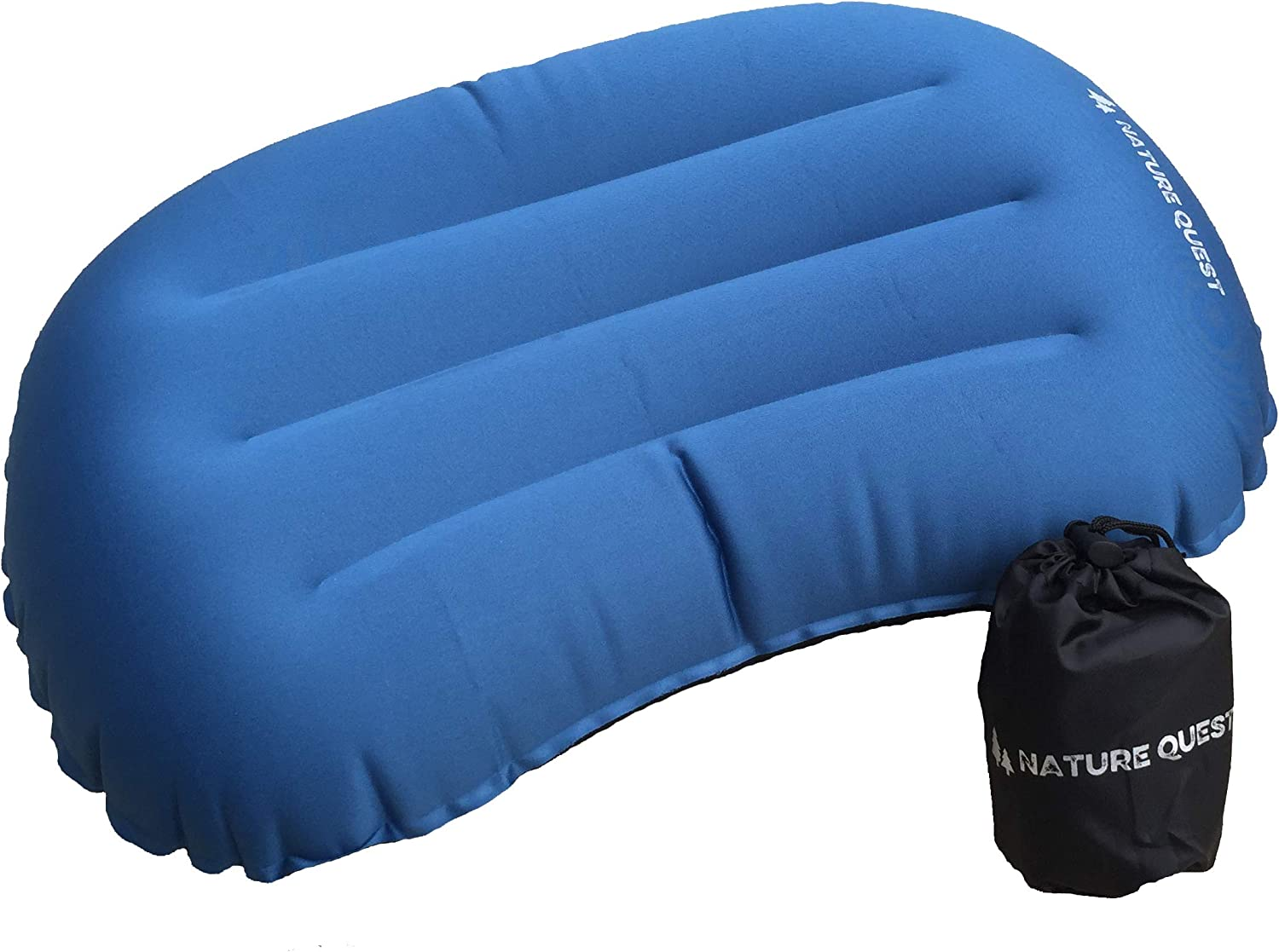 Compressible and Sleeping Compact Hiking Nature Quest Inflatable Camping Pillow Comfortable Ergonomic Design; Portable Air Pillow for Backpacking Ultra-Light
