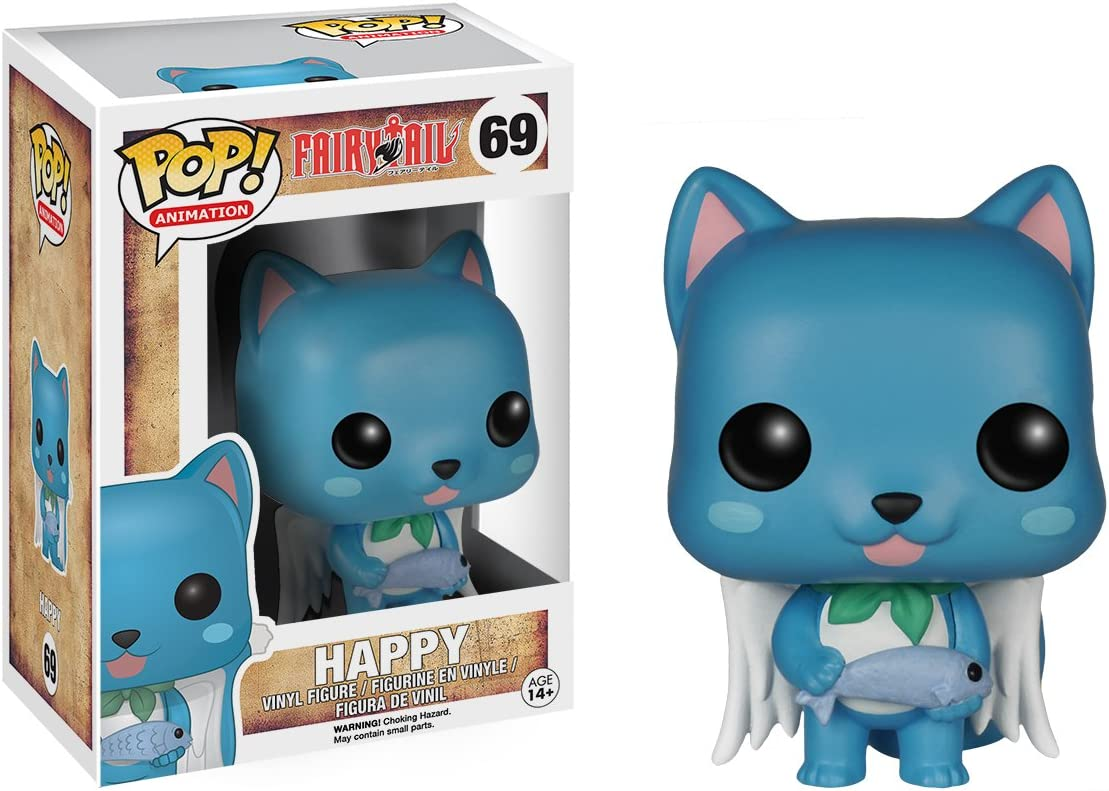 Amazon Com Funko Pop Anime Fairy Tail Happy Action Figure Funko Pop Animation Toys Games Batman (batman 1997) funko pop! funko pop anime fairy tail happy action figure