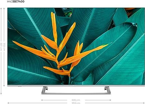 Hisense H43B7500 - TV 43 4K Ultra HD Smart TV con Alexa Integrada, 3 HDMI, 2 USB, Salida óptica, WiFi n, Bluetooth, HDR Dolby Vision, Audio DTS, Procesador Quad Core, Smart TV