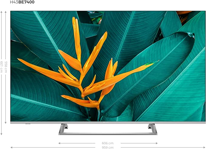 Hisense H43B7500 - TV 43 4K Ultra HD Smart TV con Alexa Integrada, 3 HDMI, 2 USB, Salida óptica, WiFi n, Bluetooth, HDR Dolby Vision, Audio DTS, Procesador Quad Core, Smart TV
