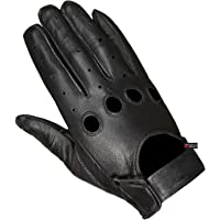 New Biker Police Leather Motorcycle Riding Ventilation Driving Gloves Black M