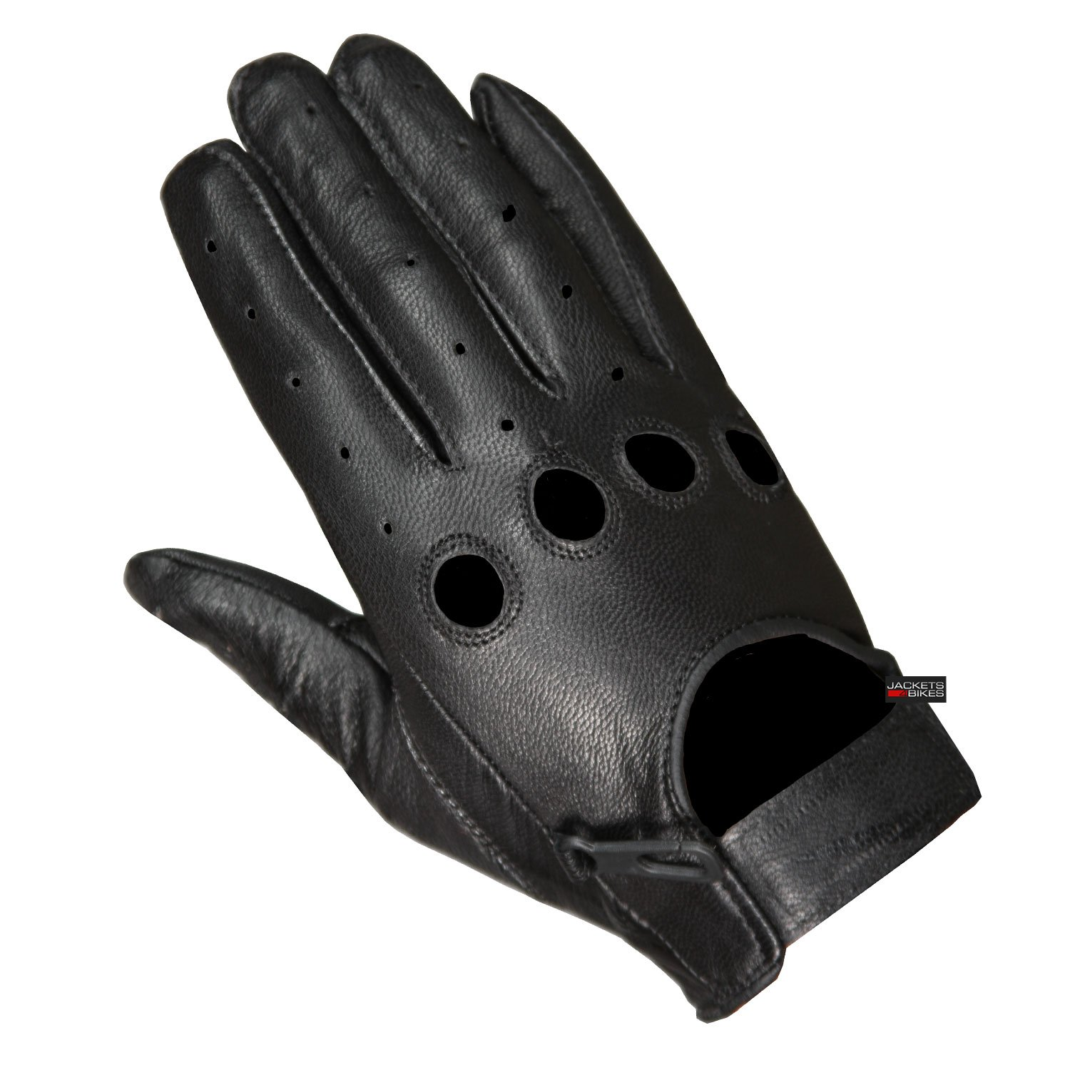 New Biker Police Leather Motorcycle Riding Ventilation Driving Gloves Black L by Jackets 4 Bikes