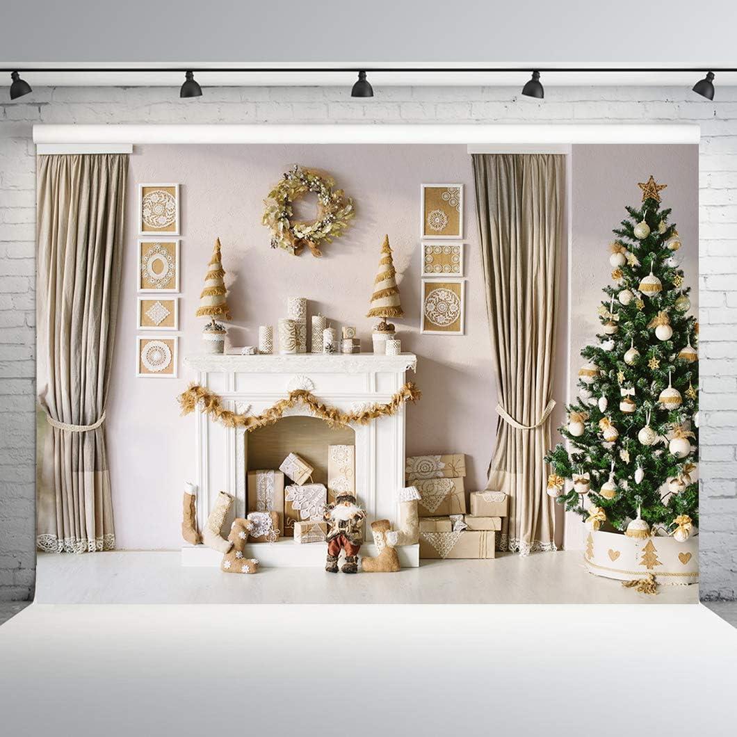 10x10ft Christmas Decoration Photography Backdrop Xmas Photo Background Christmas Tree Backdrop for Photoshoot