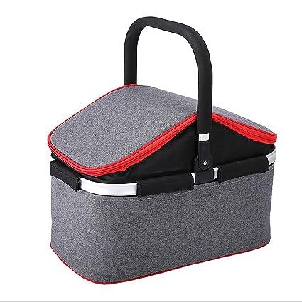 Amazon.com : Yilian yecanbeibao Camping with lid Food Basket ...